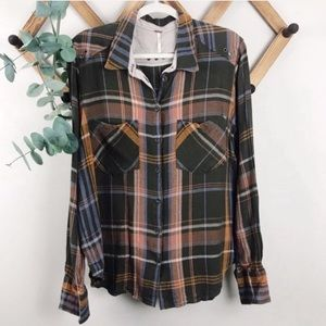 Free People | Plaid Button Down